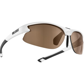 Bliz Motion Smallface Glasses shiny white/amber